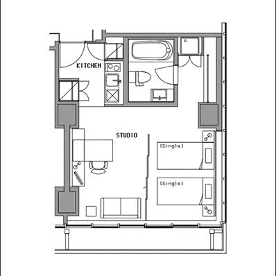 ビュロー品川 Studio F 高層階